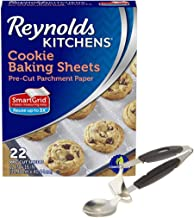 Baking Sheets Cookie Sheet Non Stick Liners Scoop Bundle - Reynolds Kitchens Pre-cut Parchment Paper Baking Sheets, 12 x 16 inches 22 count | 1 Norpro Cookie scoop