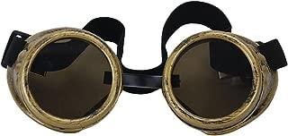 コスプレ 写真メガネ サイバーゴーグルスチームパンク溶接ゴス (真鍮色)