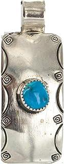 قلادة 180 دولار من النيكل النافاجو المعتمد من أمريكا الطبيعية الفيروزي الأصلي 13167-4 مصنوعة من قبل لوما سيفا