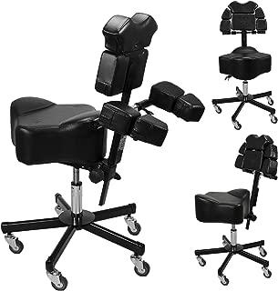 Brand New InkBed Patented Adjustable Ergonomic Chair Stool Chest Back Rest Support Tattoo Studio Equipment (Black)