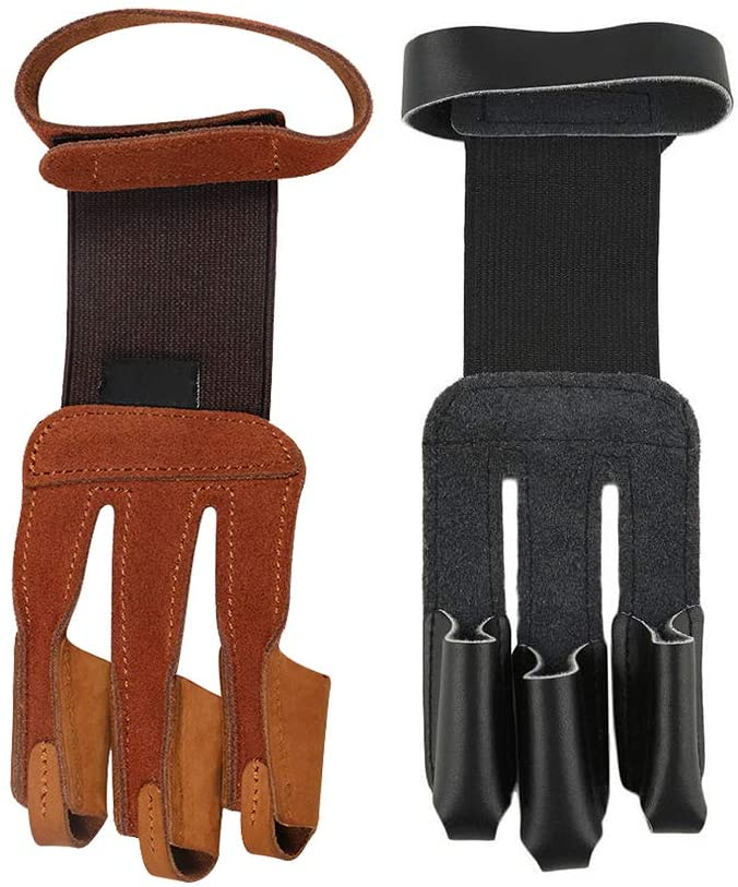 RMISODO 2 Pieces Max 74% OFF Ranking TOP18 Archery Glove Finger Prot Hand Leather 3