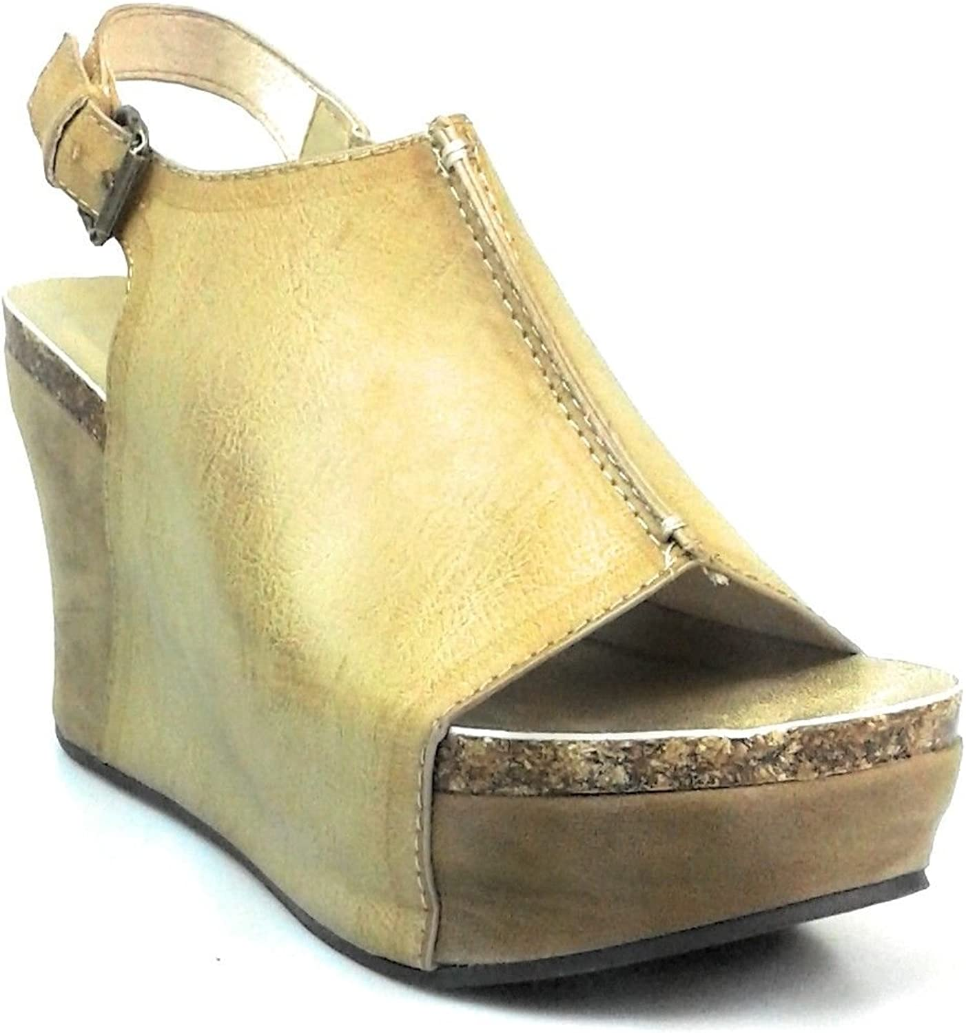 Pierre Dumas Hester-14 Women Low Wedge With An Adjustable Side Buckle Sandals