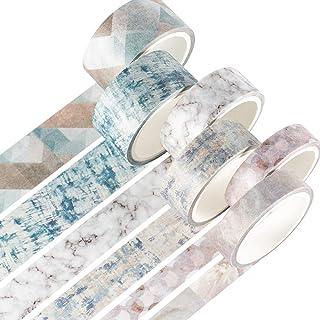 YUBX Or Washi Tape Ruban Adhésif Papier Décoratif Feuille VSCO Masking Tape pour Scrapbooking Artisanat de Bricolage 8/15m...