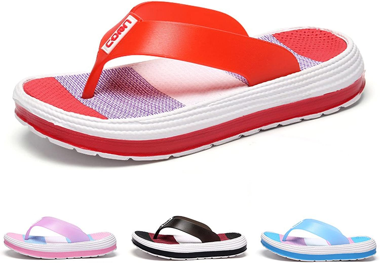 IUU Flip Flops Thong Sandals Non-Slip Slippers Beach Flip-Flops Comfort Walking Slippers
