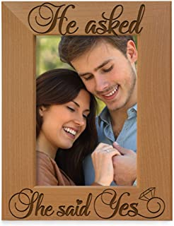 Kate Posh - We're Engaged, She Said Yes - Engagement Picture Frame 5x7-Vertical (She Said Yes) NIL