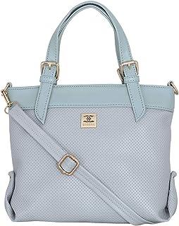 ESBEDA Grey Colour Dotted Texture Handbag For Women