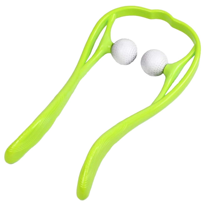 練習通知味JOUDOO 肩マッサージャー 頚椎マッサージ U型マッサージ器 首 足 腰 高弾力性繊維ストレス解消 JZA002 (緑色)