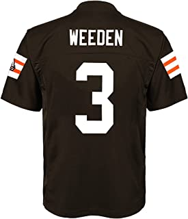 Outerstuff Brandon Weeden NFL Cleveland Browns Mid Tier Home Brown Jersey Youth (S-XL)