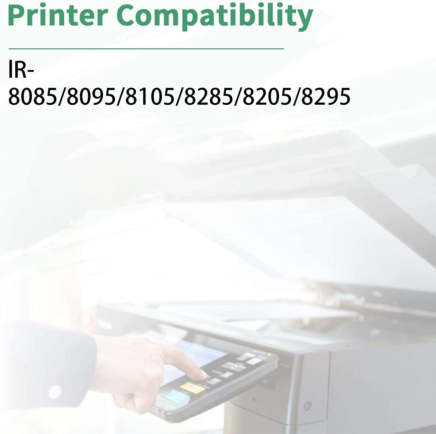 SSBY Compatible Toner Cartridge Replacement for Canon NPG-53 GPR-37 C-EXV35,to Use with IR 8085 8095 8105 8285 8205 8295 Printer,48000 Pages Black