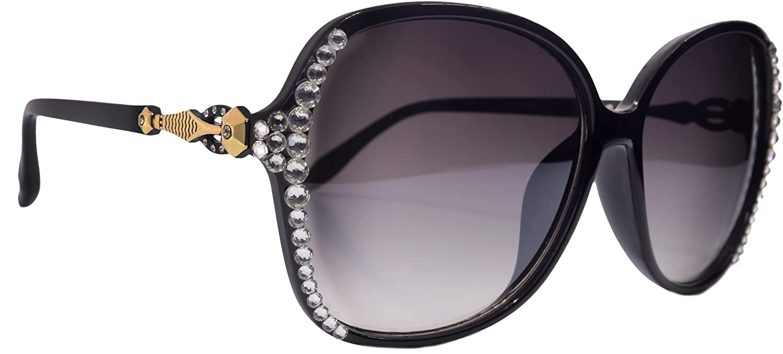 Bling Women Sunglasses Adorned with Max 83% Regular store OFF Pr Genuine 100% Crystals UV