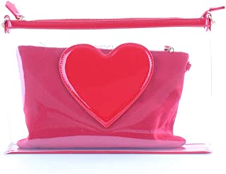 Valentino Toiletry Bag for Women- Clear/Pink