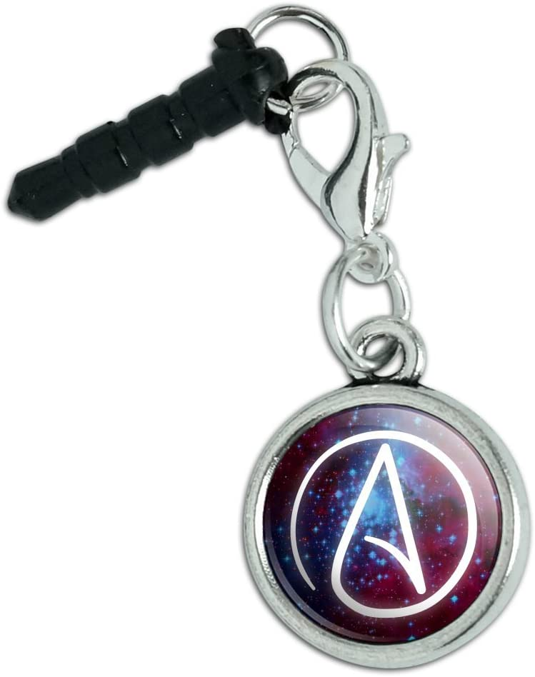 Atheist Atheism Symbol in Ranking TOP20 Space Super special price Cell Jack Phone Mobile Headphone