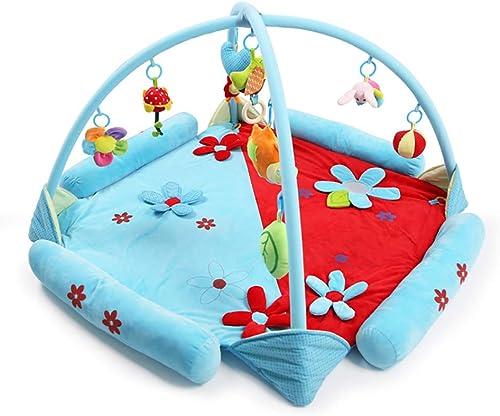 Baby Spieldecke,XBCC Kind Spielb n Activity Gym Krabbeldecke Plush Spielzeuge Matte Spielmatte Mit h enden Klangspielzeug-Rot