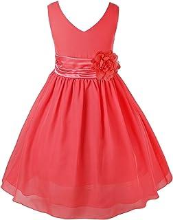 Ankoee Vestido Elegante Rojo Y Azul Boda Fiesta Para Niña