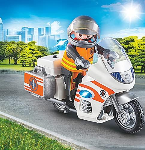 PLAYMOBIL - City Life - Moto de Emergencias Conjunto de Figuras, Multicolor (70051)