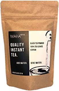 Waka Coffee Quality Instant Tea, Kenyan, Black Tea Powder | 100% Tea Leaves, No Artificial Ingredients, 225 Servings in a 4.5 oz Bag | Add Water, Give Wate