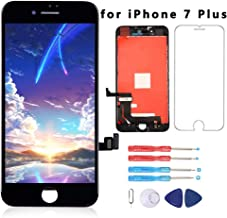 for iPhone 7 Plus Screen Replacement Black 5.5 Inch LCD Display 3D Touch Screen Digitizer Replace Screen with Repair Tools & Screen Protector