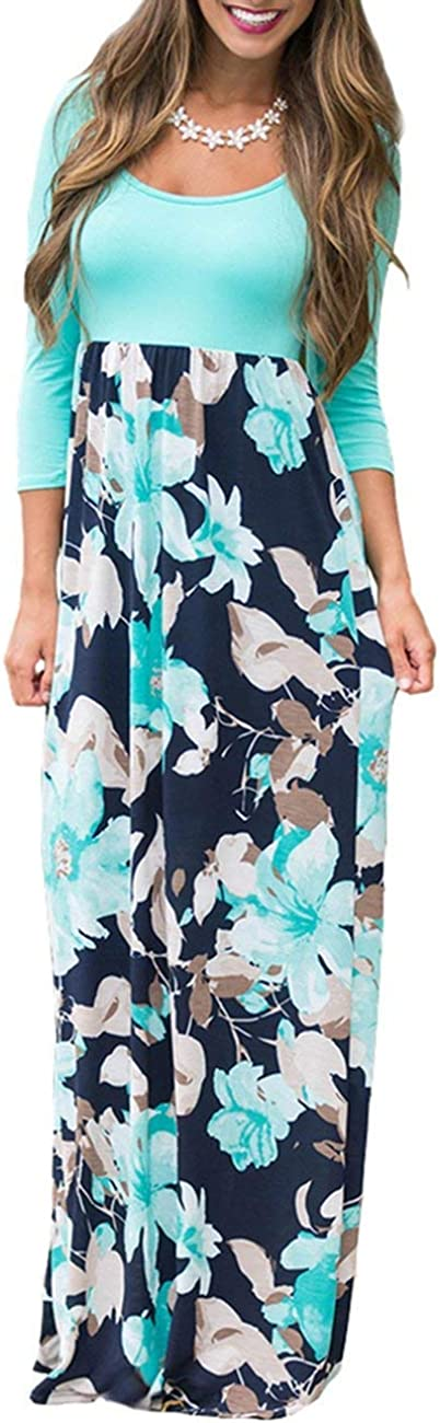 DUNEA Quality inspection Women's Maxi 2021 Dress Floral Printed Autumn 4 3 Casual Sleeve