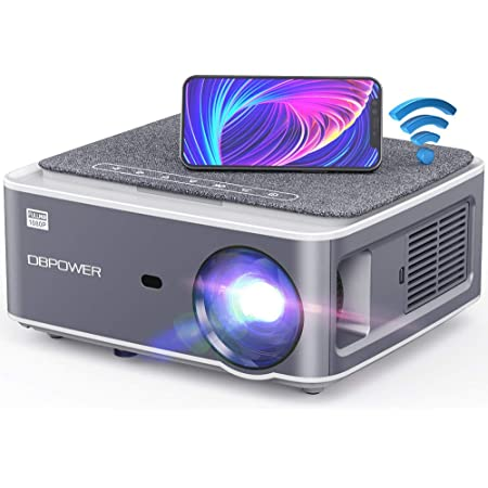 """DBPOWER Native 1080P WiFi Projector, Upgrade 9500L Full HD Outdoor Movie Projector, Support 4D Keystone Correction, Zoom, PPT, 300"""" Portable Mini Video Projector Compatible w/Phone/Laptop/DVD/TV/PS4"""