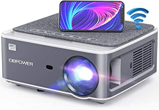 DBPOWER Native 1080P WiFi Projector, 8500L Full HD Outdoor Movie Projector, Support 4D Keystone Correction, Zoom, PPT, 300...