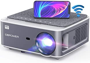 DBPOWER Native 1080P WiFi Projector, 8500L Full HD Outdoor Movie Projector, Support 4D Keystone Correction, Zoom, PPT, 30...