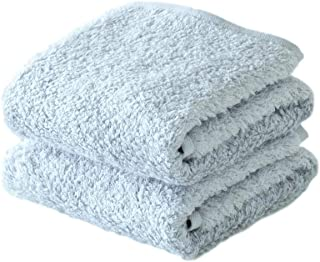 ORUNET Japanese IMABARI Towel, Hotel & Spa Quality Towels Bathroom Sets Luxury Super Absorbent 100% Cotton (Gray, Washcloth 2-Piece)