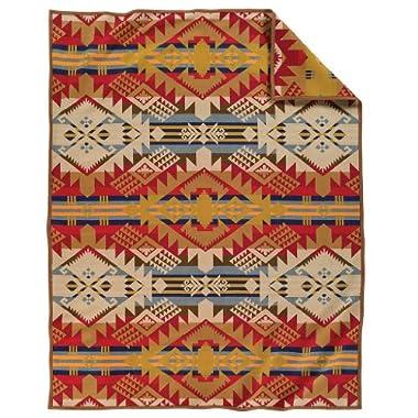 Pendleton Journey West Wool Throw Blanket, Gold, Twin