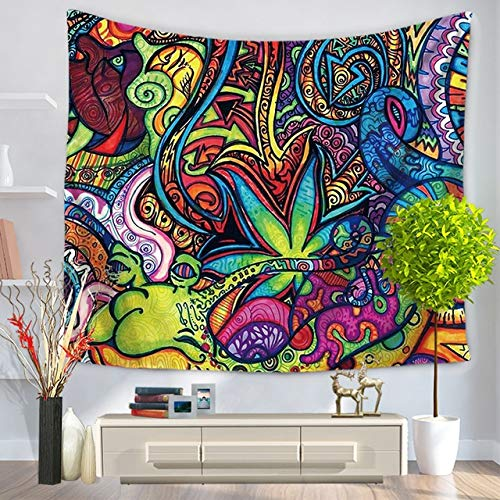 MXLF Tapestry Boho Folk-Custom Wall Printed Background Cloth Wall Carpet Hanging Home Decor Beach mat Witchcraft Supplies (Color : 4, Size : 730MMx950MM)