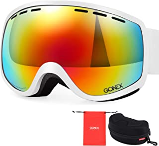 Gonex Kids Ski Goggles, Snow Goggles for Toddler Boys Girls, Anti-Fog Windproof UV400 Protection with Double Spherical Lens with Goggle Case