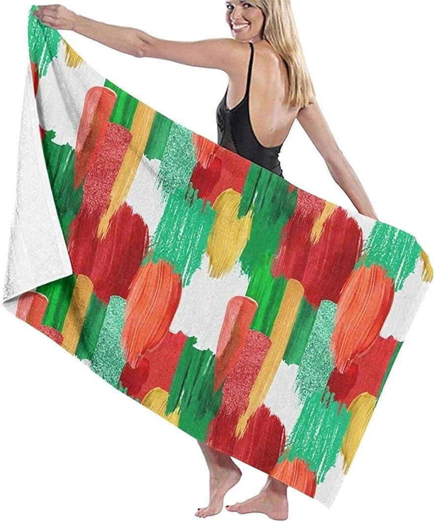 Beach Towel Large Bath Microfiber Christmas Ranking TOP3 Painted Import Colors