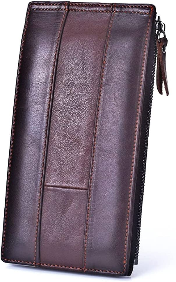 Lingwu Functional Mens Genuine New Free Shipping Leather Bif with Window ID Wallet Fort Worth Mall