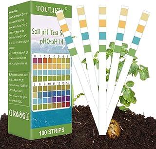 pH Bodentest,Boden PH Teststreifen,Bodenmessgerät für Pflanzen,Boden pH Tester,0-14 PH..