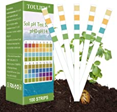 Toulifly Soil Test Kit,Soil pH Test Kit,Soil Test Strips,Soil Testing Kit,Soil pH Test Strips,Soil Testing Strips,pH Strip...