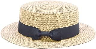 VIVICMW Lovely Summer Straw Hat Cap Straw Hats Kids Boys Girls Skimmer Hat Sun Beach Panama Hat