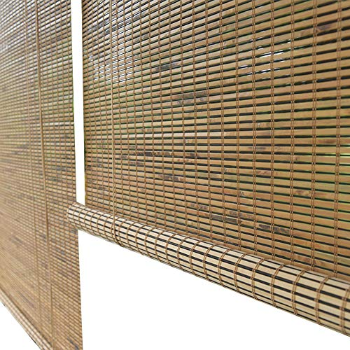 Persiana de bambú Persianas Enrollables Exteriores, Cortina Enrollable Exterior para Cubierta Patio Trasero Gazebo Pérgola Balcón Patio Porche Cochera, 85 Cm / 105 Cm / 125 Cm / 145 Cm De Ancho