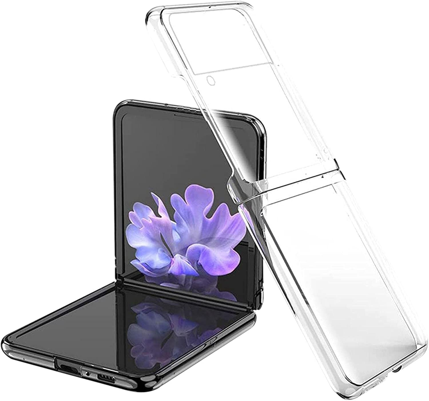 2021 Case for Samsung Galaxy Z Flip 3 5G Smartphone, Ultra Thin Folable PC Mobile Phone Protective Case for Samsung Galaxy Z Flip3 5G