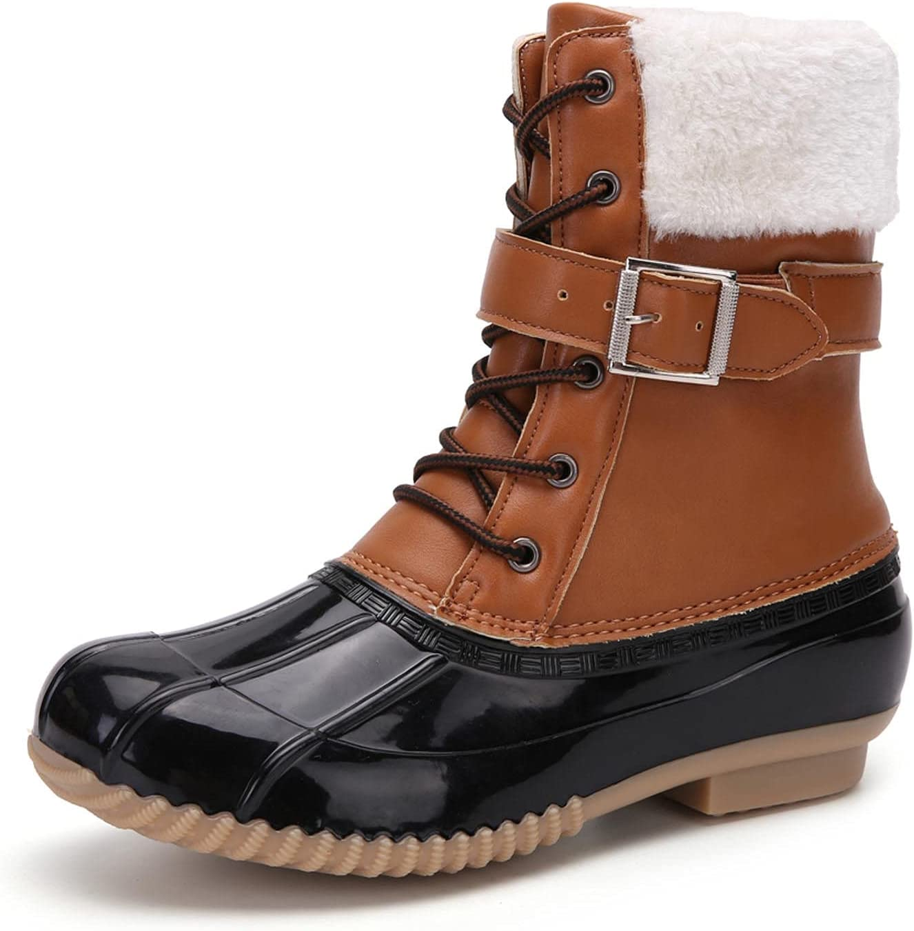 Womens Winter Duck Boots Waterproof Cold Weather Snow Boots, Duc