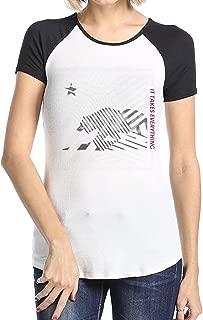 MiiyarHome Women's Short Sleeve Baseball T-Shirts Los Angeles Clippers 2017 Playoffs, Girls RaglanSleeves Jersey Tee Shirt Black XL