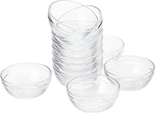 Lawei Set of 12 Glass Bowls - 3.5 inch Mini Prep Bowls Serving Bowls Glass Salad Bowl for Kitchen Prep, Dessert, Dips, Candy Dishes