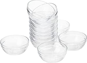 Lawei Lot de 108 pots en plastique vide transparent avec couvercles 3 g//3 ml