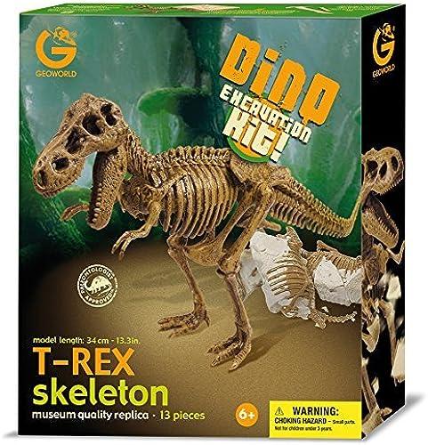 echa un vistazo a los más baratos Geoworld Geoworld Geoworld Dino Excavation Kit - T-Rex Skeleton by Geoworld  mejor marca