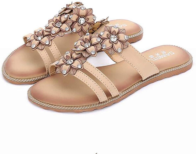Women Flat Slipper Summer Beach Sandals Bohemian Style Lightweight Flip Flops,Airport,39