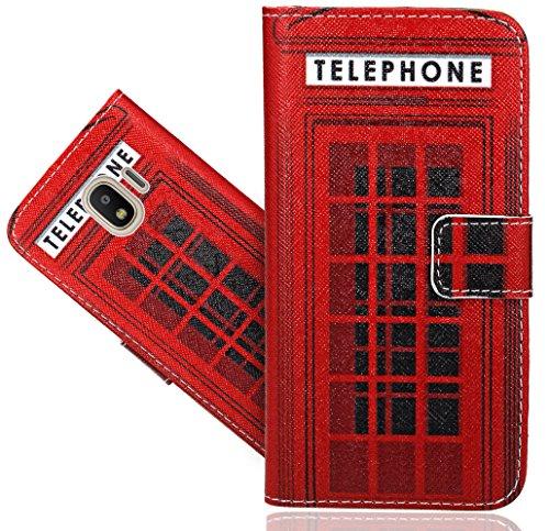 J2 Pro 2018 Handy Tasche, FoneExpert® Wallet Hülle Flip Cover Hüllen Etui Hülle Ledertasche Lederhülle Schutzhülle Für Samsung Galaxy J2 Pro 2018 / J2 2018 / Grand Prime Pro