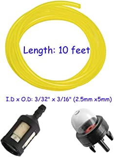 HIFROM Fuel Line Hose with Primer Bulb Fuel Filter for McCulloch MS1432 MS1435 MS1635NAV MAC3210 MAC3214 MAC3216 2012 2014 2016 Chainsaw