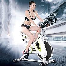 دراجة داخلية لركوب الدراجات الهوائية ، دراجة تمارين ثابتة مع مراقب لمعدل ضربات القلب، وسادة مقعد مريحة، عجلة ثقيلة تزن 22....