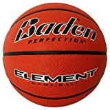 Baden Element Indoor Game Basketball, Official Size (29.5 in) NFHS Approved, Natural Orange Color (BX451-09E-F2)