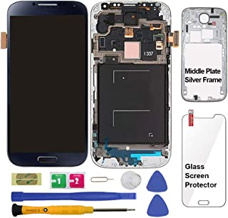 Display Touch Screen (AMOLED) Digitizer Assembly with Frame for Samsung Galaxy S4 (SIV) SGH- I337 (AT&T)/ SGH-M919 (T-Mobile)(for Samsung Mobile Phone Repair Part Replacement) (Black Mist)