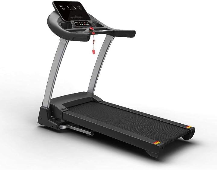 tecnofit tapis roulant tf 5.55 l hrc mp3 usb app portata 160 kg garanzia 10 anni b08rk1j8ss