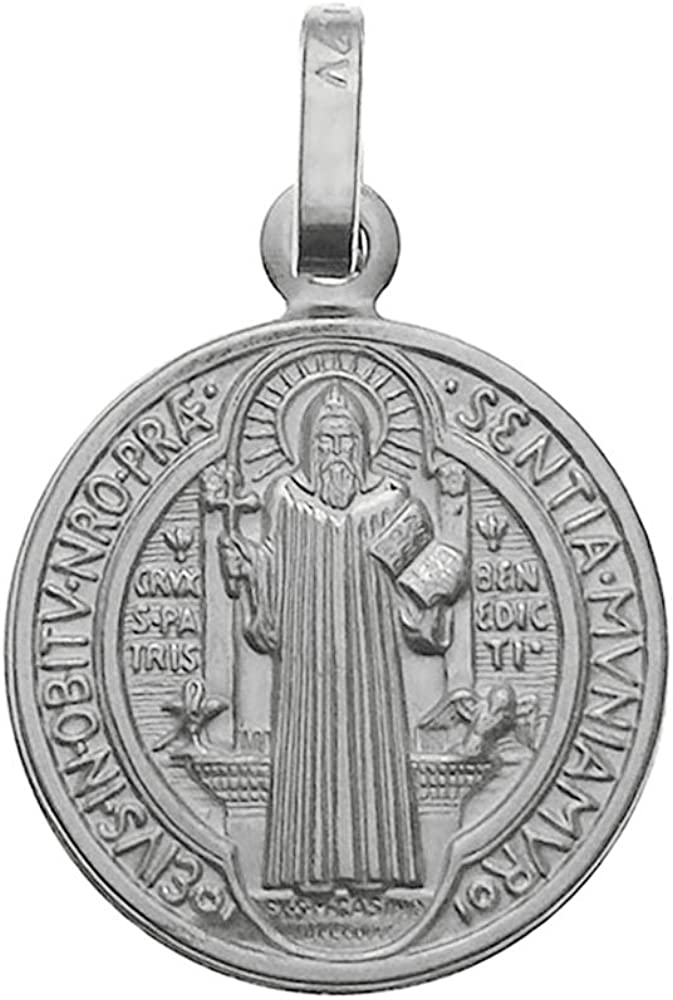 925 Sterling Silver Saint low-pricing Benedict Italy Free Shipping New in Pendant Made Charm