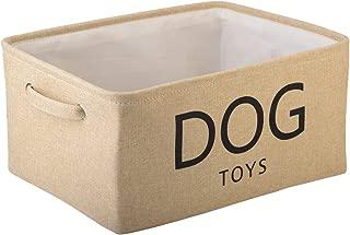 Morezi Canvas Storage Basket Bin Chest Organizer - Perfect for Organizing Toy Storage, Baby Toys, Kids Toys, Dog Toys, Baby Clothing, Children Books, Gift Baskets - Beige
